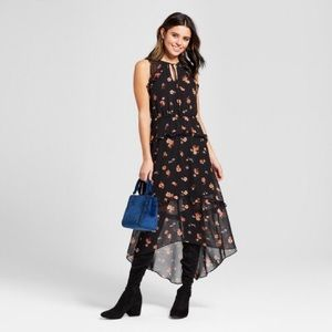 Black Floral Tiered Maxi Dress 💐